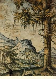 landschaft mit pinienbaum von altdorfer albrecht kunst postkarte und museum shop kunstkarte kaufen. Black Bedroom Furniture Sets. Home Design Ideas