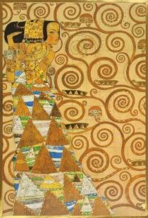 die erwartung werkvorlage zum stocletfries 1905 09 von klimt gustav kunst postkarte und. Black Bedroom Furniture Sets. Home Design Ideas