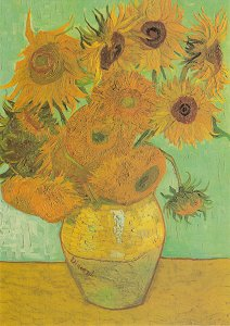 Zwölf Sonnenblumen In Einer Vase 1889 Von Gogh Vincent Van Van